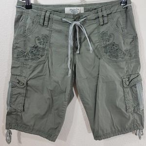 American Rag Army Green Belted Cargo Shorts 13